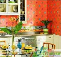 Chọn giấy dán tường cho nhà bếp