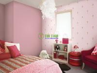 Những mẫu giấy dán tường màu hồng đẹp cho ngôi nhà bạn