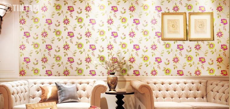 Mẫu giấy dán tường Hàn Quốc đẹp cho phòng khách sang trọng